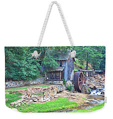 Sixes Mill On Dukes Creek Weekender Tote Bag by Gordon Elwell
