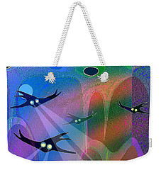 1044 - Inside A Tropical Ocean   Weekender Tote Bag by Irmgard Schoendorf Welch