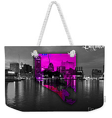 Baltimore Map Watercolor Weekender Tote Bag by Marvin Blaine