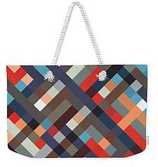 Geometric Weekender Tote Bag