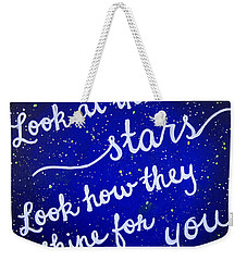 11x14 Look At The Stars Weekender Tote Bag by Michelle Eshleman