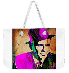Frank Sinatra Art Weekender Tote Bag by Marvin Blaine