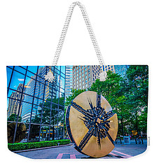 Skyline And City Streets Of Charlotte North Carolina Usa Weekender Tote Bag