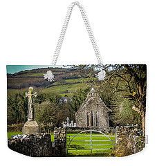 12th Century Cross And Church In Ireland Weekender Tote Bag