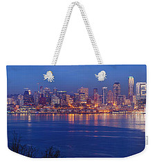 12th Man Seattle Skyline Reflection Weekender Tote Bag