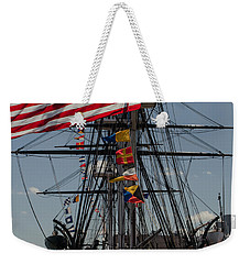 Weekender Tote Bag featuring the photograph 13 Stars by Mike Ste Marie