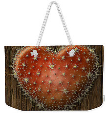 Cactus Heart Weekender Tote Bag by James Larkin