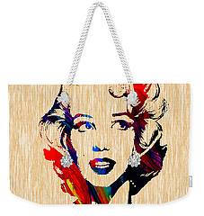 Marilyn Monroe Diamond Earring Collection Weekender Tote Bag