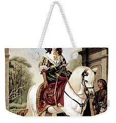 1600s Woman Riding Sidesaddle Painting Weekender Tote Bag