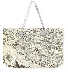 1690 Coronelli Map Of Montenegro Weekender Tote Bag