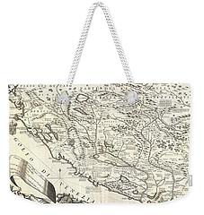 1690 Coronelli Map Of Montenegro Weekender Tote Bag by Paul Fearn