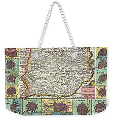 1747 La Feuille Map Of Catalonia Spain Weekender Tote Bag