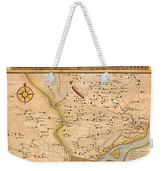 1752  Scull  Heap Map Of Philadelphia And Environs Weekender Tote Bag by Paul Fearn