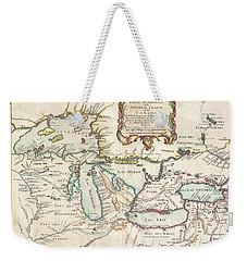 1755 Bellin Map Of The Great Lakes Weekender Tote Bag