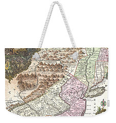 1756 Lotter Map Of Pennsylvania New Jersey And New York Weekender Tote Bag