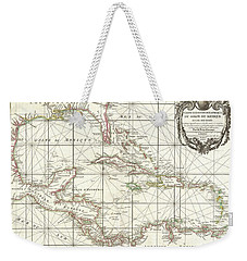 1762 Zannoni Map Of Central America And The West Indies Weekender Tote Bag by Paul Fearn