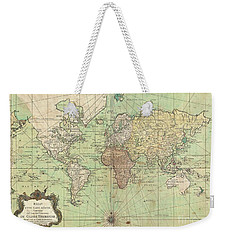 1778 Bellin Nautical Chart Or Map Of The World Weekender Tote Bag by Paul Fearn