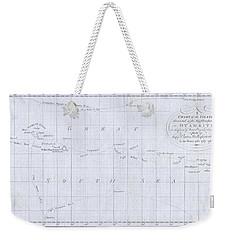 1780 Cook  Hogg Map Of Tahiti  Weekender Tote Bag