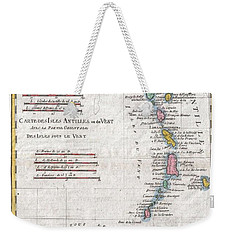 1780 Raynal And Bonne Map Of Antilles Islands Weekender Tote Bag