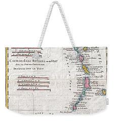 1780 Raynal And Bonne Map Of Antilles Islands Weekender Tote Bag by Paul Fearn