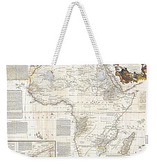 1787 Boulton  Sayer Wall Map Of Africa Weekender Tote Bag by Paul Fearn