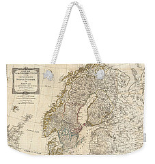 1794 Laurie And Whittle Map Of Norway Sweden Denmark And Finland Weekender Tote Bag by Paul Fearn