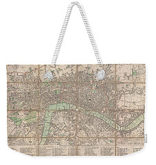 1795 Bowles Pocket Map Of London Weekender Tote Bag