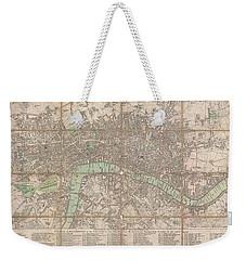 1795 Bowles Pocket Map Of London Weekender Tote Bag by Paul Fearn