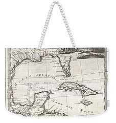 1798 Cassini Map Of Florida Louisiana Cuba And Central America Weekender Tote Bag by Paul Fearn