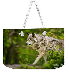 Timber Wolf Pictures Weekender Tote Bag