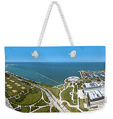 180 Degree View Of A City, Lake Weekender Tote Bag by Panoramic Images