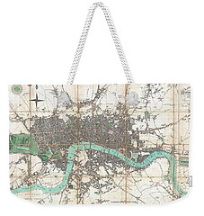 1806 Mogg Pocket Or Case Map Of London Weekender Tote Bag