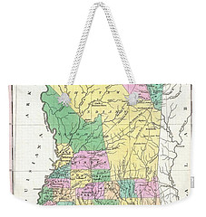 1827 Finley Map Of Mississippi Weekender Tote Bag by Paul Fearn