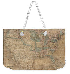 1839 Burr Wall Map Of The United States  Weekender Tote Bag