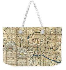 1849 Japanese Map Of Edo Or Tokyo Weekender Tote Bag by Paul Fearn