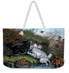 1860s Two Spaniel Dogs Flushing Weekender Tote Bag