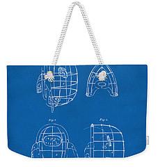 1878 Baseball Catchers Mask Patent - Blueprint Weekender Tote Bag