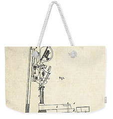 1878 Steinway Piano Forte Action Patent Art  Weekender Tote Bag by Gary Bodnar