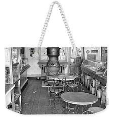 1880 Drug Store Black And White Weekender Tote Bag