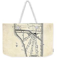 1885 Steinway Piano Frame Patent Art Weekender Tote Bag by Gary Bodnar