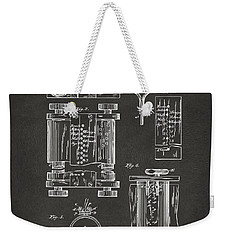 1889 First Computer Patent Gray Weekender Tote Bag