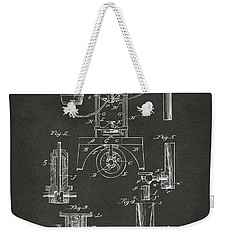 1890 Bottling Machine Patent Artwork Gray Weekender Tote Bag