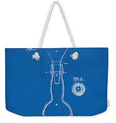 1891 Bottle Neck Patent Artwork Blueprint Weekender Tote Bag by Nikki Marie Smith