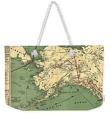 Weekender Tote Bag featuring the photograph 1897 Map Of Alaska by Charles Beeler