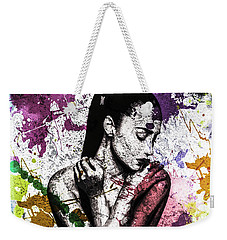 Demi Lovato Weekender Tote Bag by Svelby Art