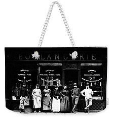 1900 Parisian Bakery Weekender Tote Bag by Historic Image