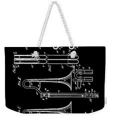 1901 Trombone Patent Weekender Tote Bag by Dan Sproul