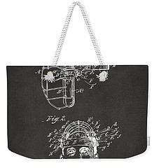 1904 Baseball Catchers Mask Patent Artwork - Gray Weekender Tote Bag