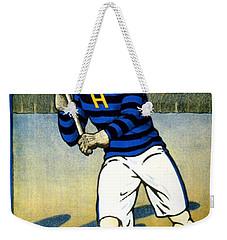 1905 - Johns Hopkins University Lacrosse Poster - Color Weekender Tote Bag