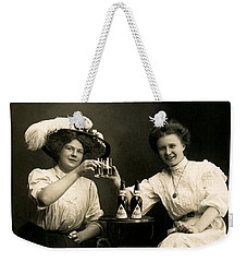 1905 Beer Drinking Girlfriends Weekender Tote Bag by Historic Image
